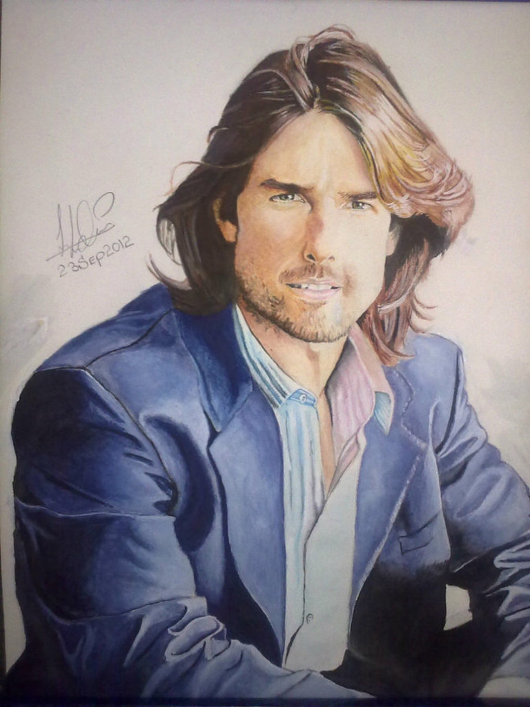 My Painting of Tom Cruise by John Cena